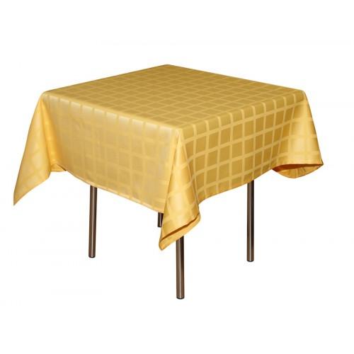 Скатерть 145х145 см «Журавинка» желтая (квадрат)