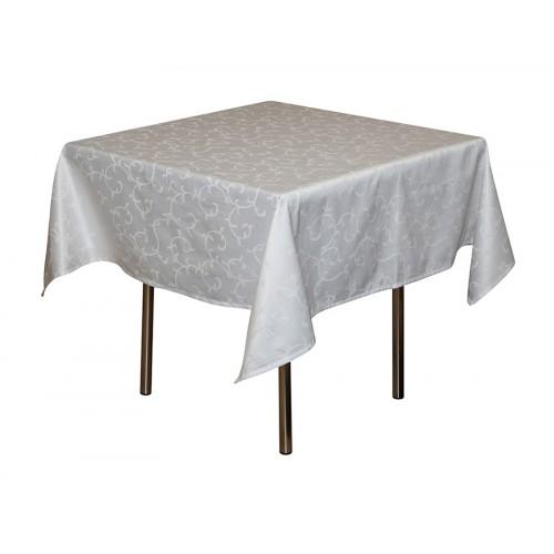 Скатерть 145х145 см «Журавинка» белая (вензель)