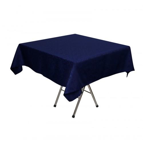 Скатерть 145х145 см «Журавинка» синяя (цветок)