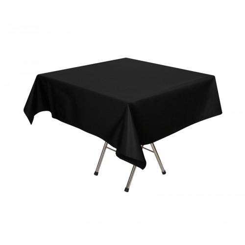 Скатерть 145х145 см «Журавинка» черная (гладь)