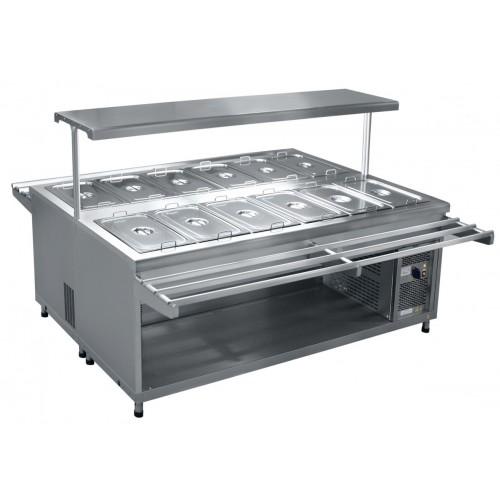 Салат-бар охлаждаемый на 12 гастроемкостей GN 1/1 ПВВ(Н)-140СМ-02