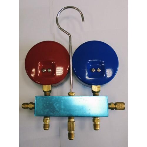 16 Коллектор 2 вент. CH-A2P б/шл,с/ст R22,134,404 с манометром, 80мм