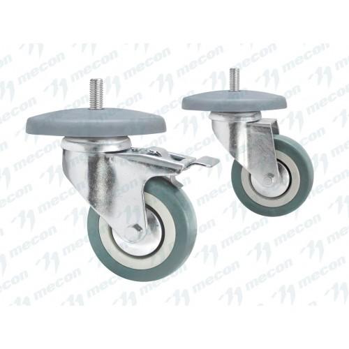 "Комплект колес ""Norma"" (d = 75 мм, 2 с тормозом, 2 без торомоза, бамперы)"