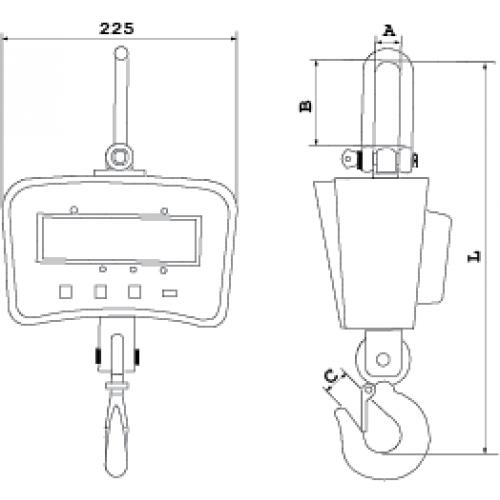 Крановые электронные весы CASTON I