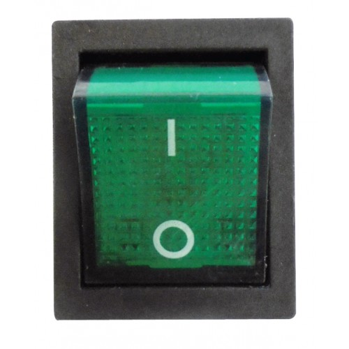 ПЕРЕКЛЮЧАТЕЛЬ 15 А/250 широкий, зеленый, 4-контактный