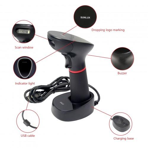 Сканер штрих-кода беспроводной Sunlux XL-9610 (2D)